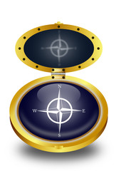 Compass button (vector)