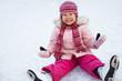 child leaning skating