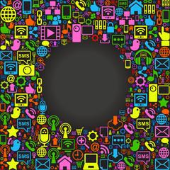 social network background postcard