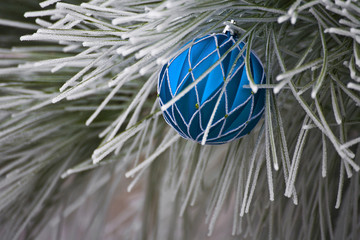 Blue Christmas Bulb Ornament