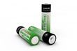 Three Modern Eco Batteries on White