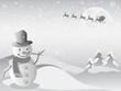 santa flying for Christmas