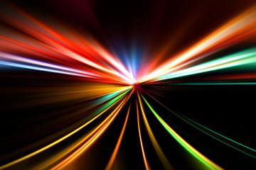 rapid race of night highway