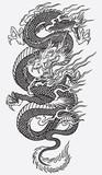 Asian Dragon Linework Vector
