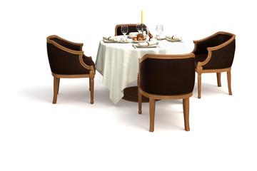 Gedeckter Tisch (isoliert)