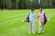 Men talking on the golf course