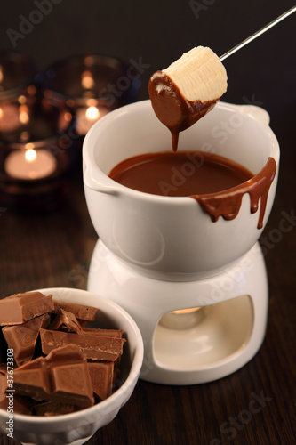 Dipping into chocolate fondue
