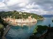 panoramica del villaggio di portofino sul mare
