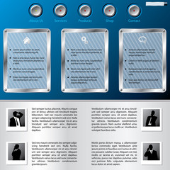Web template with business man profiles