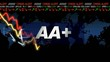 AAA notation credit rating grade crisis animation