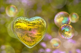 Fototapety Bulles de savon en forme de coeur