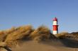 Leinwandbild Motiv Kleiner Leuchtturm in den Dünen von Borkum