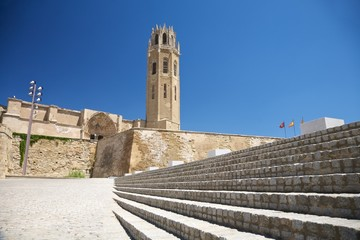 great stairs at Lleida cathedral