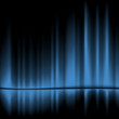 Abstract blue drapes