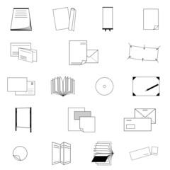 Druckerei Icons