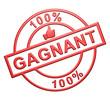 """100% Gagnant"" Cachet (rouge)"