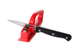 Kitchen knife and sharpener