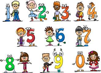 Мультфильм номера и детей