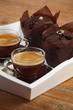Chocolate muffins and espresso
