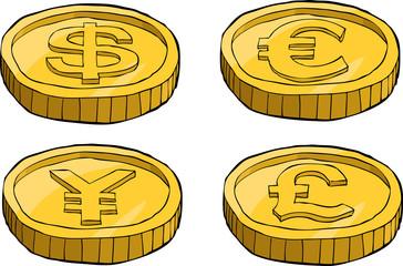 Cartoon coins