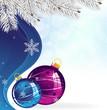 Blue and purple Christmas tree balls