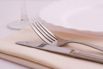 an elegant dinner table setting