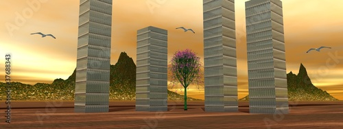 landscape buildings
