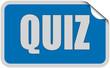Sticker blau eckig curl oben QUIZ