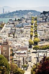 Lombard Street from Hyde Street in San Francisco