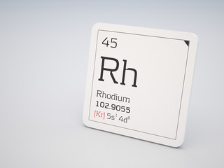 Rhodium - element of the periodic table