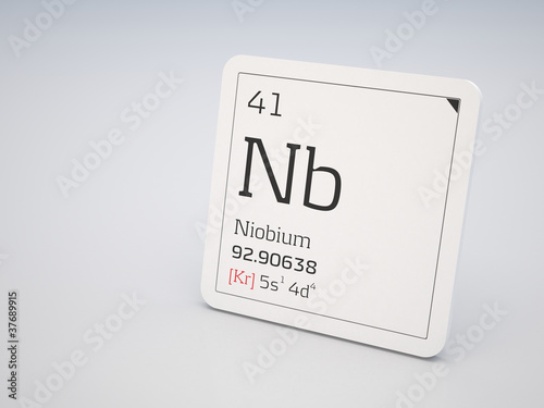 Niobium - element of the periodic table