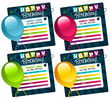 Mini Birthday Cards with Balloons