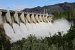 Leinwanddruck Bild - Hydro Electric Dam Spillway