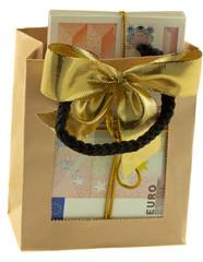 sac argent cadeau