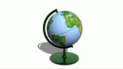 Plastic Globe Slow Rotation