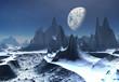 Ice Moon - Alien Planet