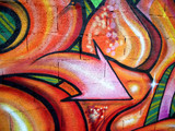 Fototapete Pfeil - Bunt - Graffiti