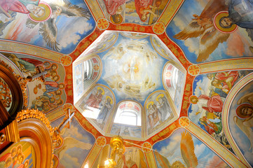richly decorated main cupola