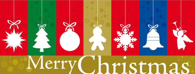 Christmas banner with different vertical greetings card