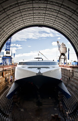 Catamaran in the Dock