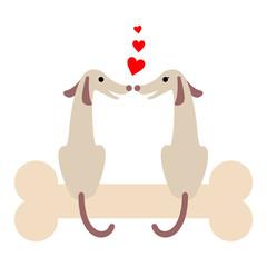 犬のカップル