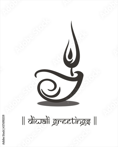 Oil lamp, Diwali greetings card, royal Rajasthan, India