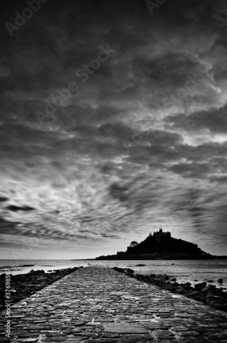 st michaels mount bw