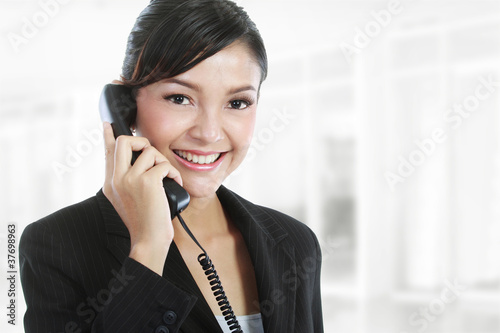 business woman on phone call