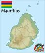 mauritius emblem map flag coat
