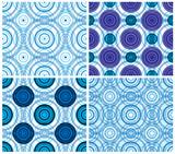 Rhythmic circles seamless patterns. poster