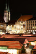 Nürnberg Weihnachtsmarkt bei Nacht