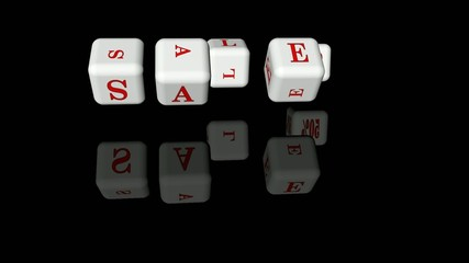 Inscription sale on the dice
