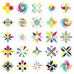 Loghi 4 Colori Design Logo Icons 4 Colors-Set 25-Vector