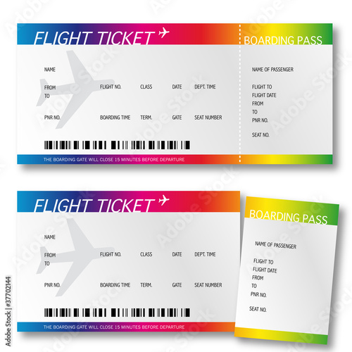 Billet d'avion - boarding pass